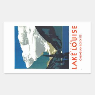 Lake Louise Canadian Rockies Canada Rectangular Stickers