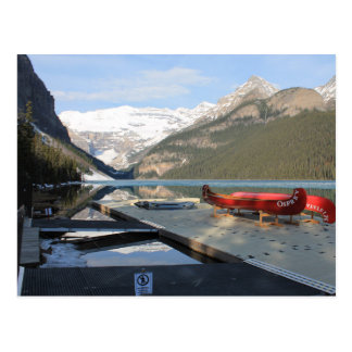 Lake Louise Canoe Dock, Alberta, Canada, Postcard