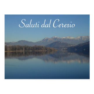 Lake Lugano (Ceresio) Swiss Postcard