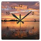 Lake Macquarie, New South Wales, Australia Square Wall Clock