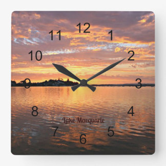 Lake Macquarie, New South Wales, Australia Square Wall Clock