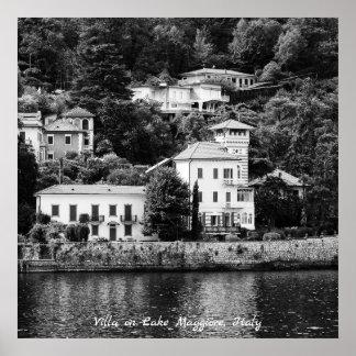 Lake Maggiore Villa Poster