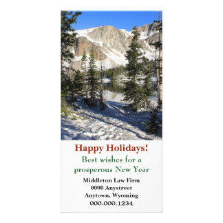 Lake Marie Wyoming Corporate Christmas Picture Card