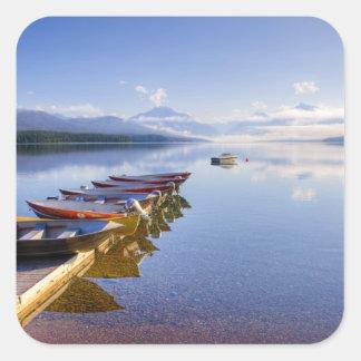 Lake McDonald, Glacier National Park, Montana, Square Sticker