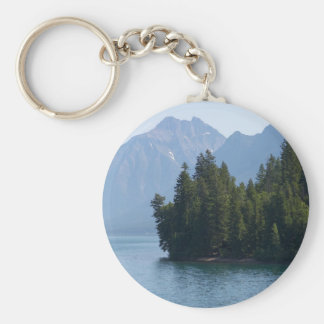Lake Mcdonald In Glacier National Park Montana Keychain