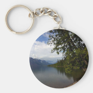 Lake Mcdonald Is The Largest Lake In Glacier Natio Key Chain