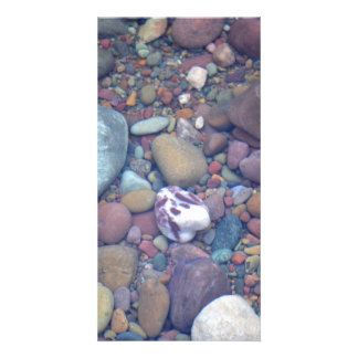 Lake McDonald Rocks Custom Photo Card
