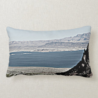 Lake Mead in Grit Custom Throw Pillow