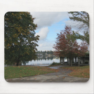 Lake Meridian Fall Season Mousepad