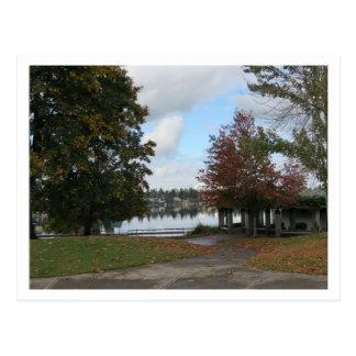 Lake Meridian Fall Season Postcard