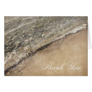 Lake Michigan Beach Rocks Thank You Card