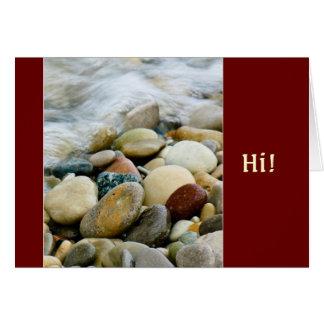 Lake Michigan Beach Stones I Card