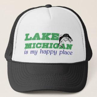 Lake Michigan is my happy place Trucker Hat