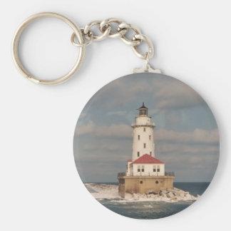 Lake Michigan Lighthouse Keychain
