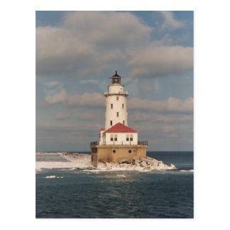 Lake Michigan Lighthouse Postcard