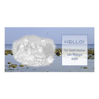 Lake Michigan Memories Customised Photo Card