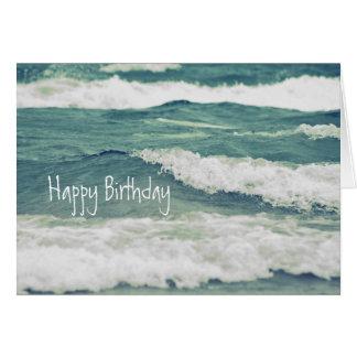 Lake Michigan Rolling Waves Card