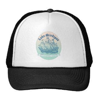 Lake Michigan Sailing Ship Cap