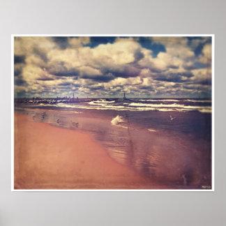 Lake Michigan Summer Poster
