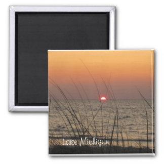 Lake Michigan SunSet Fridge Magnet