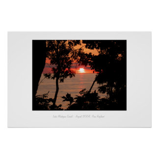 Lake Michigan Sunset Poster