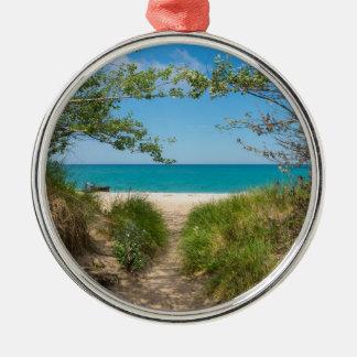Lake Michigan Tranquility Metal Ornament