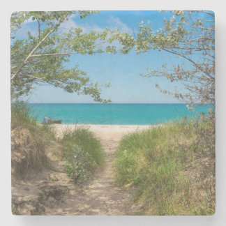 Lake Michigan Tranquility Stone Coaster