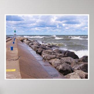 Lake Michigan Waves Poster