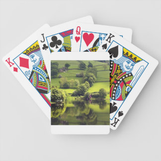 Lake Mirror Beauty Reflection Bicycle Playing Cards