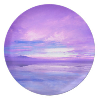 Lake Mirrored Serenity Hood Canal Seabeck Dinner Plate