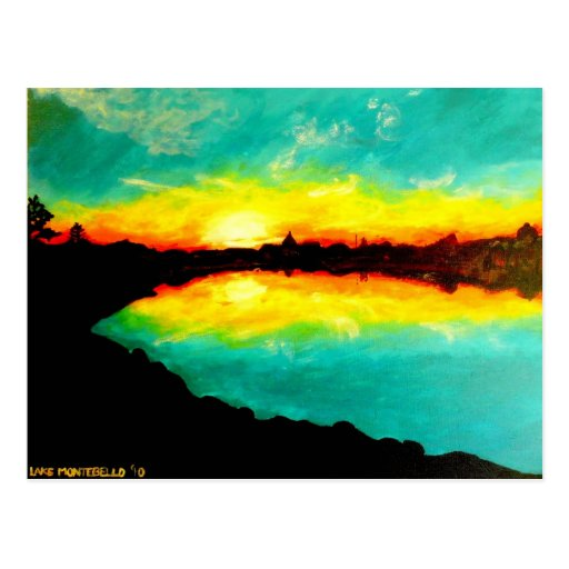"""Lake Montebello '10"" Postcard"