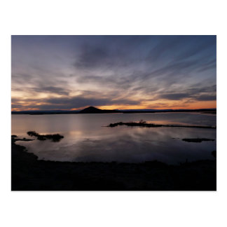 Lake Myvatn sunset Postcard