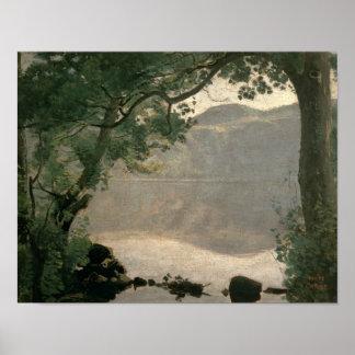 Lake Nemi, 1843 Poster