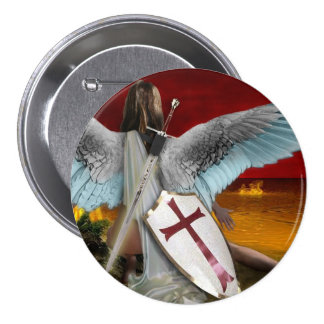 lake of fire 7.5 cm round badge