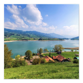 Lake of Gruyere, Switzerland Card