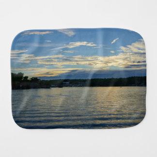 Lake Of The Ozarks Blue Sunset Burp Cloth