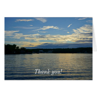 Lake Of The Ozarks Blue Sunset Card