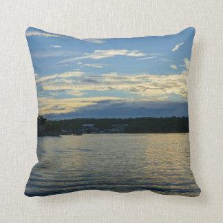 Lake Of The Ozarks Blue Sunset Cushion