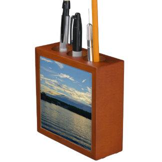 Lake Of The Ozarks Blue Sunset Desk Organiser
