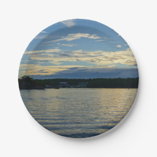 Lake Of The Ozarks Blue Sunset Paper Plate