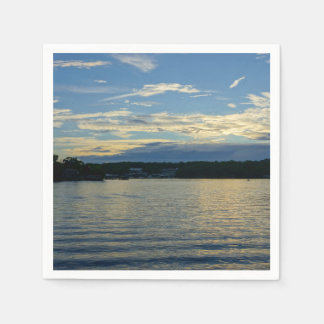 Lake Of The Ozarks Blue Sunset Paper Serviettes