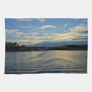 Lake Of The Ozarks Blue Sunset Towels