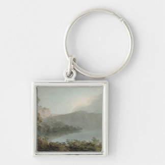 Lake of Vico Between Rome and Florence, 1783 (grap Silver-Colored Square Key Ring