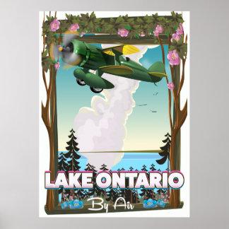 Lake Ontario North American flight poster