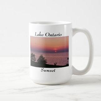 Lake Ontario sunset views Basic White Mug
