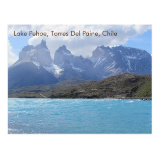 Lake Pehoe, Torres Del Paine, Chile Postcard