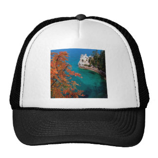 Lake Pictured Rocks Shore Superior Michigan Hat