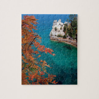 Lake Pictured Rocks Shore Superior Michigan Jigsaw Puzzle