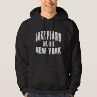 Lake Placid Old Style White Hoodie