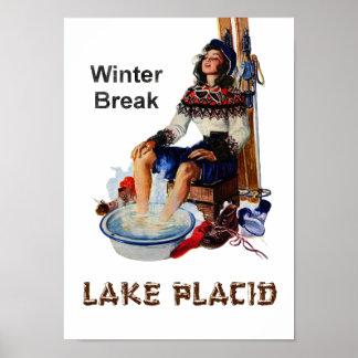 Lake Placid travel poster